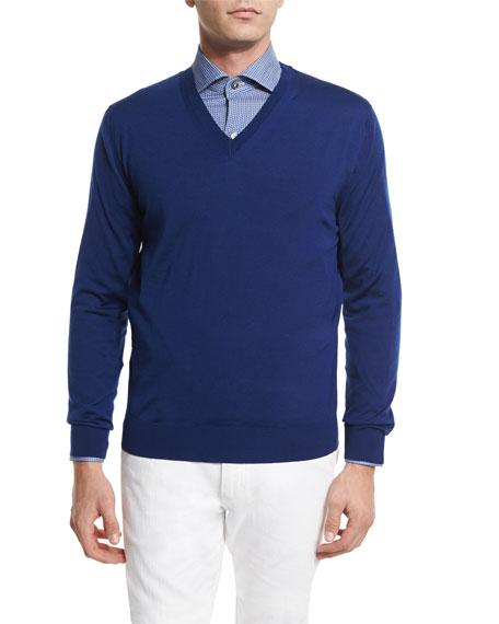 Ermenegildo Zegna Reversible Wool Vest, Mini Espresso Cup-Printed