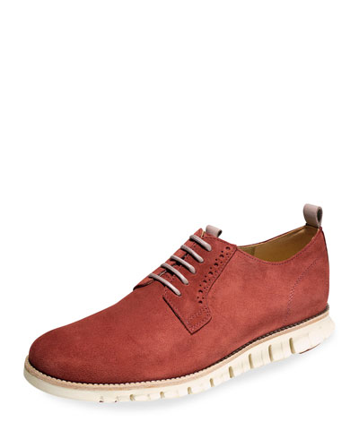 Zerogrand Suede Oxford, Burnt Henna