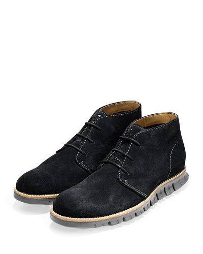 ZeroGrand Suede Chukka Boot, Black