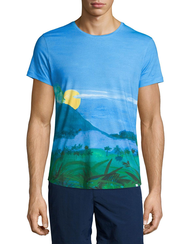 Orlebar Brown Jungle Vista Digital Print Short Sleeve T Shirt