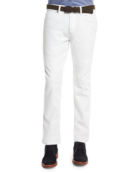 Ermenegildo Zegna Five-Pocket Slim-Fit Jeans, White