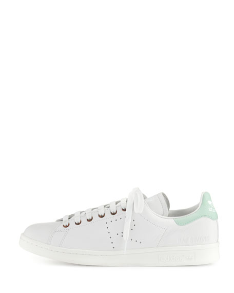 big sale 72ae0 8d478 Men's Stan Smith Vintage Perforated Leather Sneakers, White/Light Green