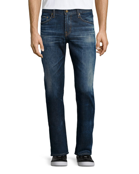 AG Adriano Goldschmied Graduate 10-Years Ansel Denim Jeans, Medium Blue Vintage