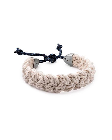 Miansai Nantucket Men's Braided Bracelet, Natural/Indigo