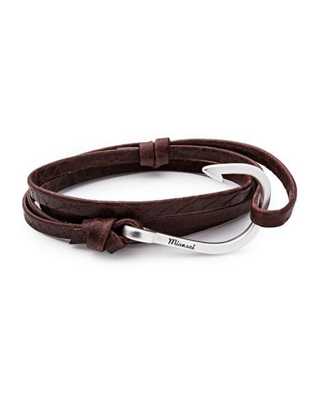 Men's Hook Leather Bracelet, Mojave
