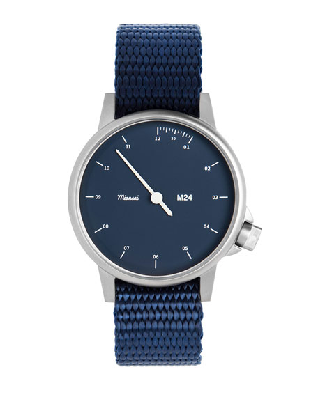 Miansai M24 Stainless Steel Watch with Nylon Strap,