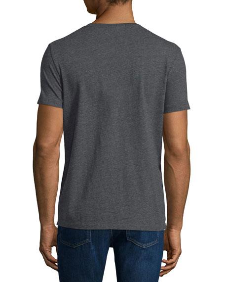 Short-Sleeve Jersey T-Shirt, Dark Gray Melange