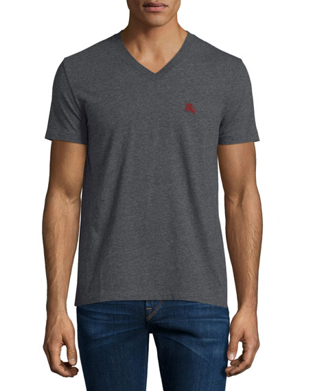 Burberry Brit Short-Sleeve Jersey T-Shirt, Dark Gray Melange