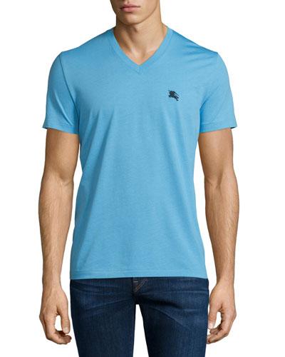 Short-Sleeve Jersey Tee, Sky Blue