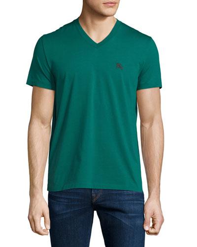 Short-Sleeve Jersey Tee, Bright Bottle Green