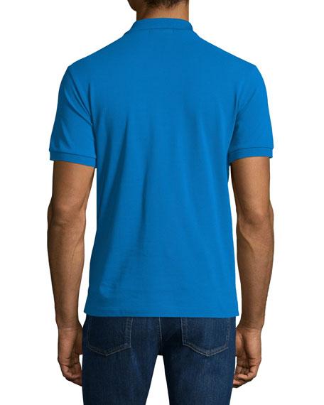 Core Short-Sleeve Pique Polo Shirt, Bright Opal