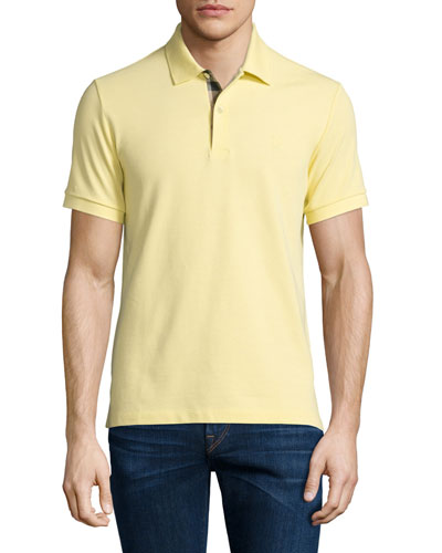Core Short-Sleeve Pique Polo Shirt, Gorse Yellow
