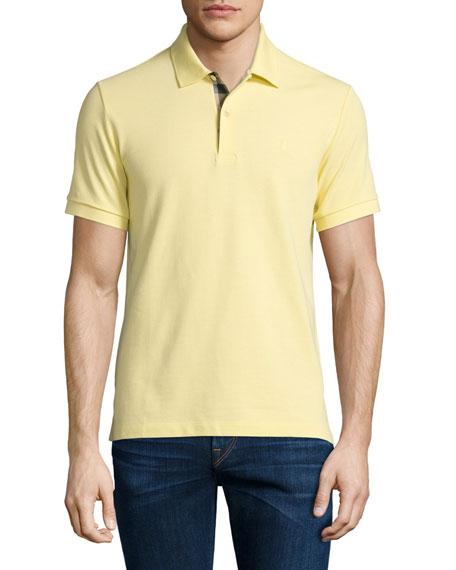 Burberry Brit Core Short-Sleeve Pique Polo Shirt, Gorse
