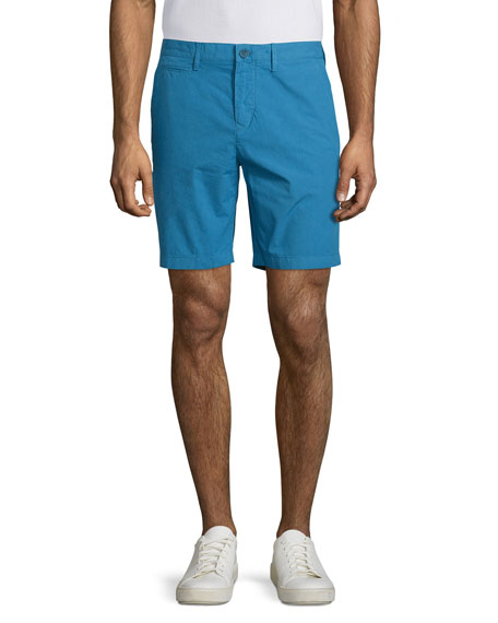 Burberry BritArchive Flat-Front Chino Shorts, Lupin Blue