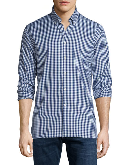 Burberry Brit Matlock Gingham Long-Sleeve Sport Shirt, Bright