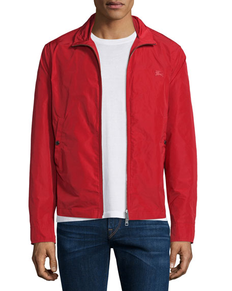 Burberry BritMemory Lightweight Blouson Jacket, Military Red