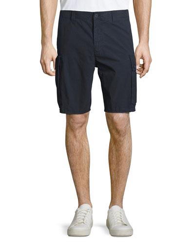 Flat-Front Cargo Shorts, Navy