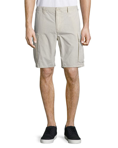 Straight-Leg Cargo Shorts, Stone