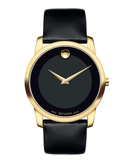 Movado 40mm Museum Classic Watch with Leather Strap