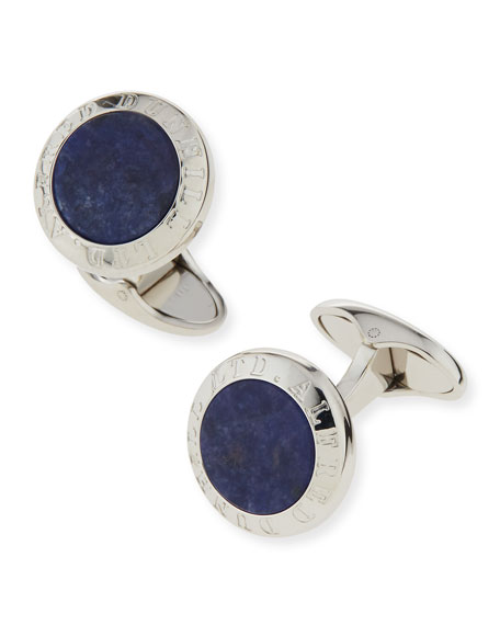 Alfred Dunhill Sodalite Stone Coin Cuff Links
