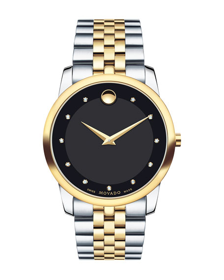Movado 40mm Museum Classic Two-Tone Watch
