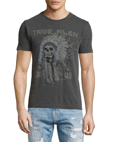 4th Ave Headdress Graphic Short-Sleeve Tee, Black