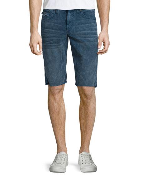 True Religion Ricky Sidewalk Flap-Pocket Shorts, Indigo