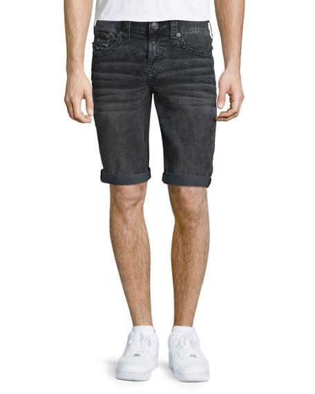 True Religion Ricky Sidewalk Shorts, Washed Black