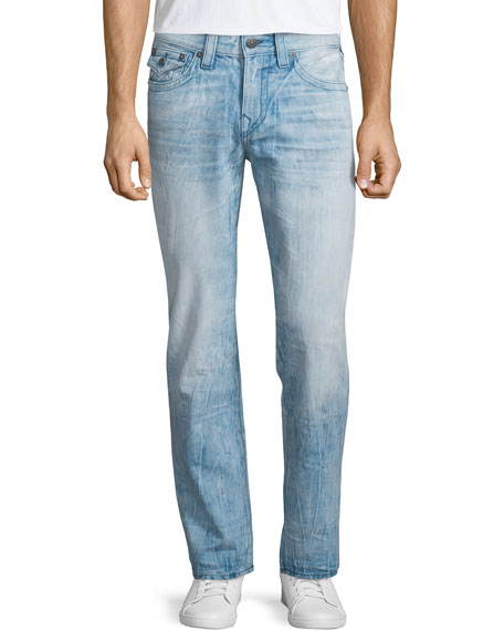 True Religion Geno City Streets Faded Denim Jeans, Day Shifter