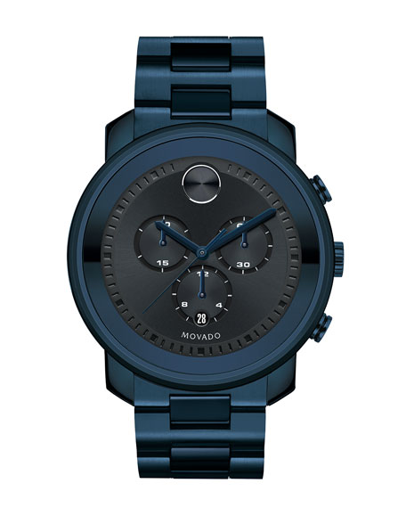 44mm Bold Chronograph Watch, Blue