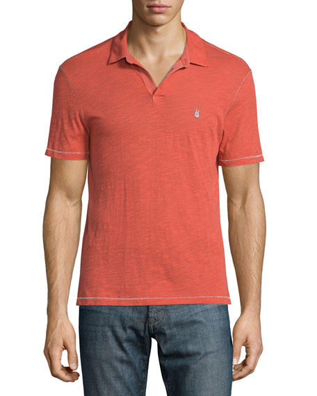 John Varvatos Star USA Garment-Wash Peace Polo Shirt,