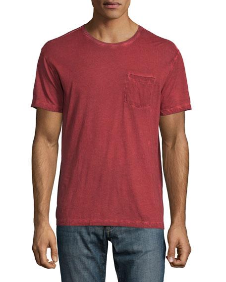 John Varvatos Star USA Cold-Dye Short-Sleeve Pocket T-Shirt, Scarlet