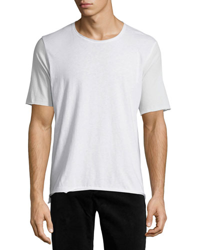 Colorblock Short-Sleeve T-Shirt, White