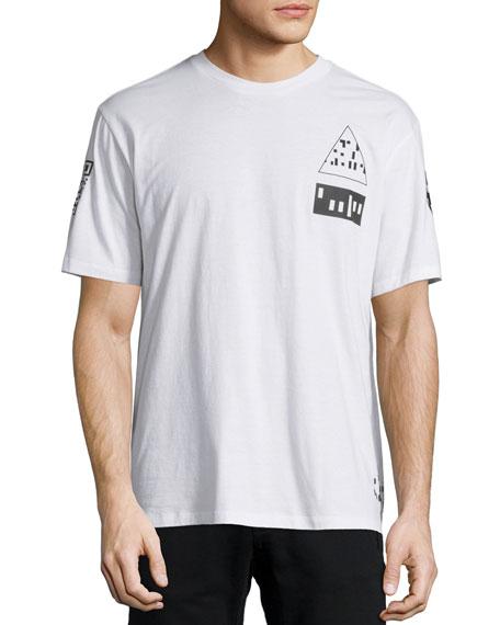 Alexander Wang Etching Scanner Graphic Short-Sleeve T-Shirt,