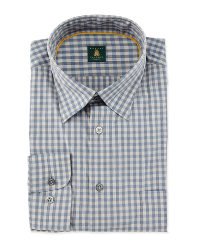 Check Woven Dress Shirt, Haze
