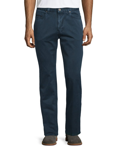Ventana Slim-Leg Trousers, Navy