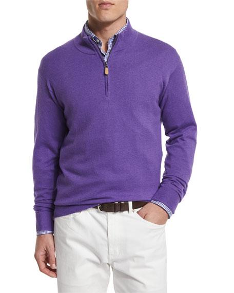 Peter Millar Cashmere Blend Quarter Zip Pullover Sweater