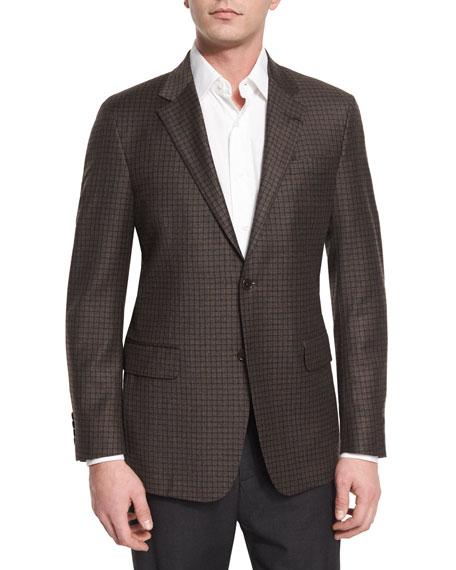 Robert Talbott Carmel Check Two-Button Jacket, Multi Colors