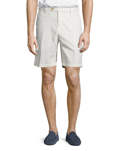 Soft Touch Cotton Shorts, Stone
