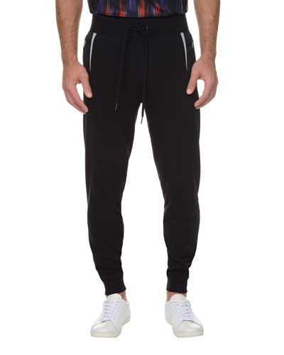 Titanium Slim-Fit Jogger Pants, Black