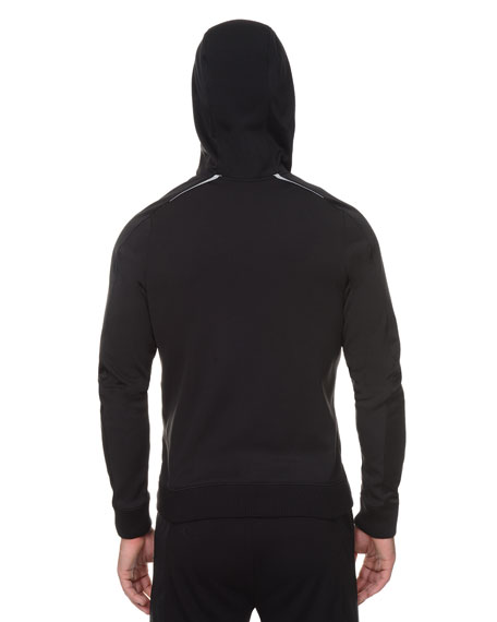Titanium Tech Full-Zip Hoodie, Black
