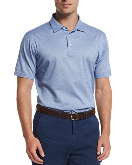 Peter Millar Take Five Short-Sleeve Pique Polo Shirt,