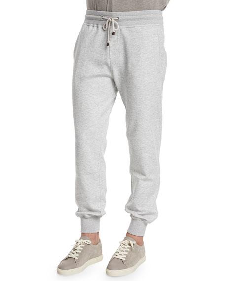 Brunello Cucinelli Drawstring Spa Lounge Pants, Charcoal