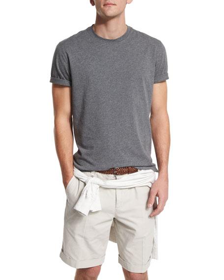 Short-Sleeve Crewneck T-Shirt, Dark Gray