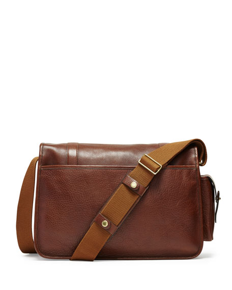 Fielding No. 137 Leather Messenger Bag, Vintage Chestnut