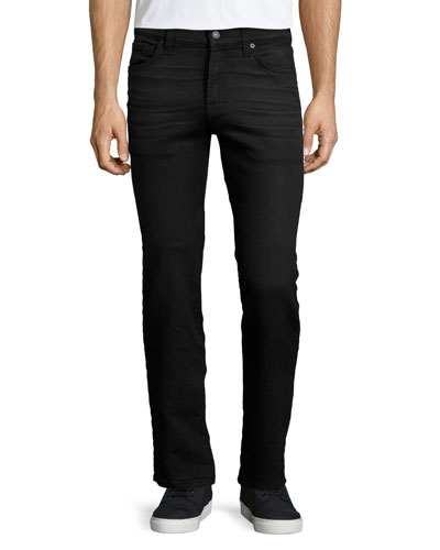 Rouge Melange Knit Denim Jeans, Black