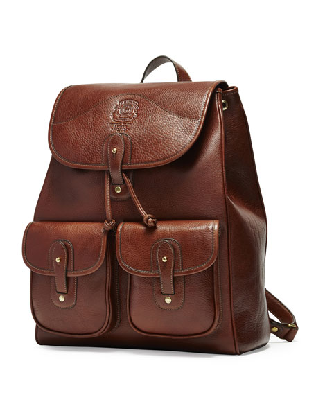 Ghurka Blazer No. 278 Leather Backpack, Vintage Chestnut