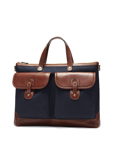 Archive No. 279 Twill Briefcase, Navy Twill