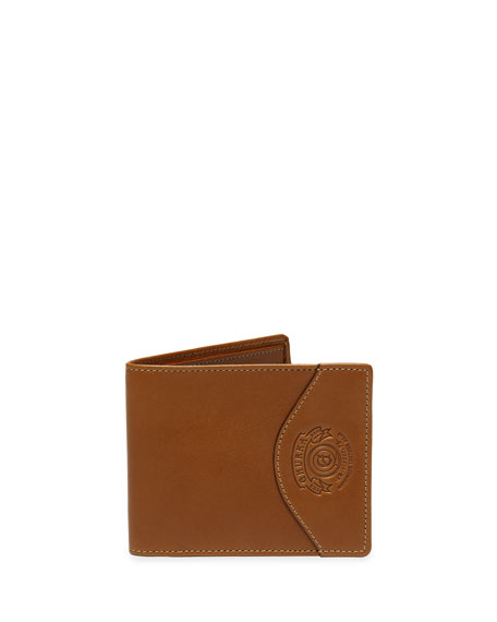 Slim Classic Leather Wallet No. 203, Chestnut