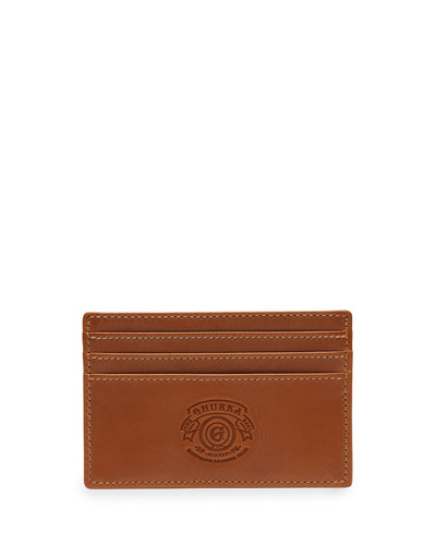 Slim Leather Card Case No. 20, Chestnut
